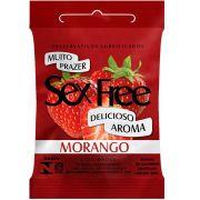 Preservativo Sex Free 3 unidades Com Aroma de Morango