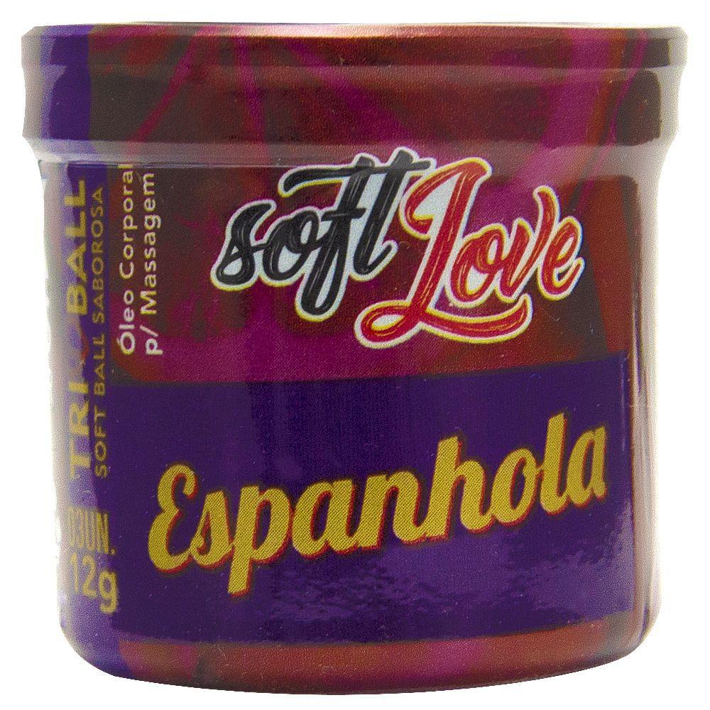 Bolinhas Soft Ball Espanhola Com 3 Bolinhas - Soft Love