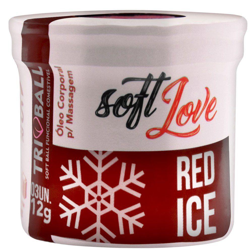 Bolinhas Soft Ball Red Ice 3 Unidades - Soft Love