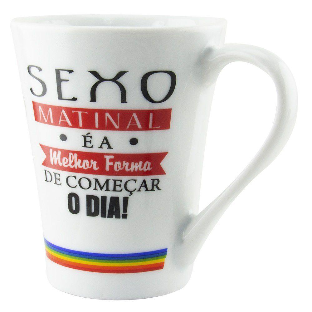 Caneca Erótica Porcelana Sexo Matinal - 300Ml