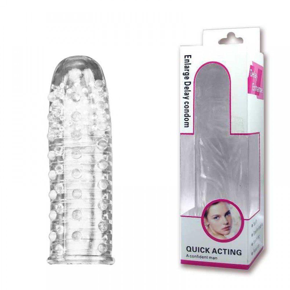 Capa Peniana Transparente com Saliências Massageadoras - CA013B