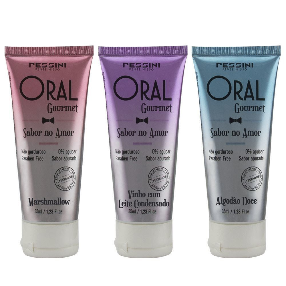 Oral Gourmet Gel Comestível 35ml - Pessini