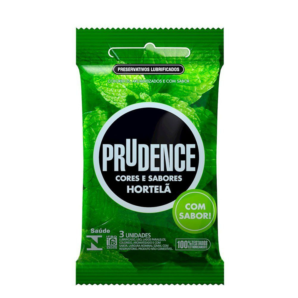 Preservativo Prudence Com 3 Sabor Hortelã