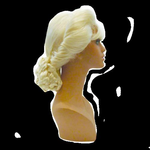Peruca Sintética Elsa Coroação Fio Importado.