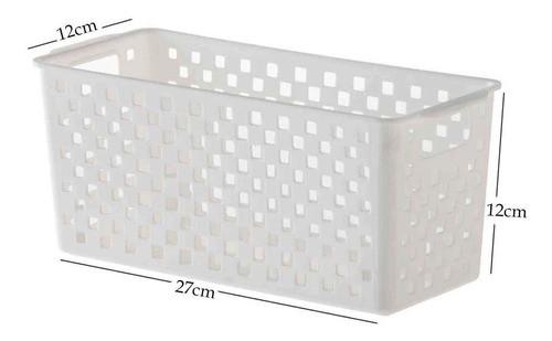 10 Cestas Organizadoras Quadratta branco para gavetas, armários, lavanderias, cozinha, banheiro e quarto