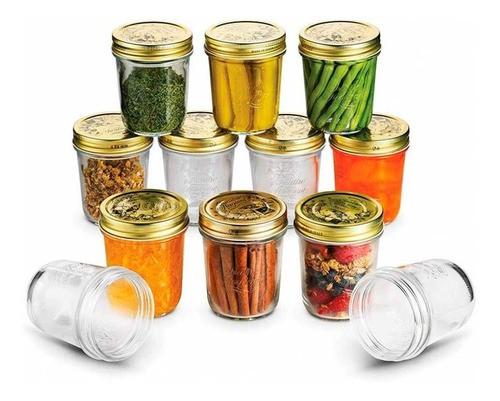 10 Potes Quattro Stagioni 320ml de vidro hermético Bormioli Rocco para papinhas, compotas, doces caseiros e conservas