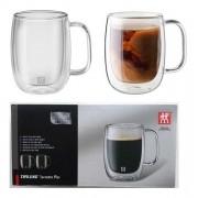 2 canecas de vidro de parede dupla para café e chás 355ml - Zwilling Sorrento