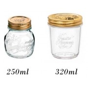 2 Potes herméticos de vidro Quattro Stagioni  Bormioli Rocco para papinhas, geleias, compotas, doces e conservas