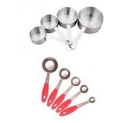 5 colheres e 4 copos medidores e e dosadores uso doméstico e profissional