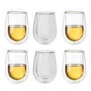 6 Copos parede Dupla Vinho Branco, drinks e sucos 296ml - Zwilling