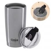 Copo térmico aço Inox 580ml para café chá água cerveja com tampa Onix Termic