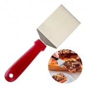 Espátula angular de inox para confeitaria bolos, cupcakes e cobertura