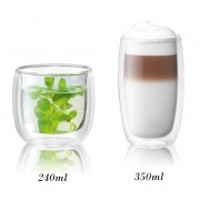 Kit com 2 copos 240ml + 2 350ml parede dupla Zwilling