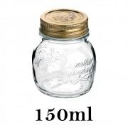 Pote Quattro Stagioni 150ml de vidro com fechamento hermético Bormioli Rocco para papinhas e conservação de alimentos