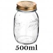 Pote Quattro Stagioni 500ml de vidro com fechamento hermético Bormioli Rocco para conservação de alimentos
