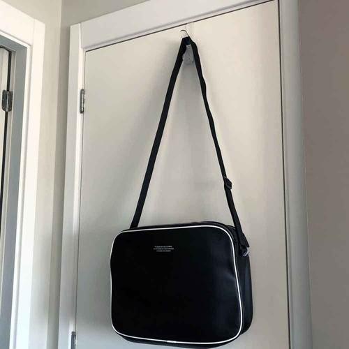 2 cabides transparentes ganchos multiuso para portas e pendurar bolsas, toalhas, roupão e roupas
