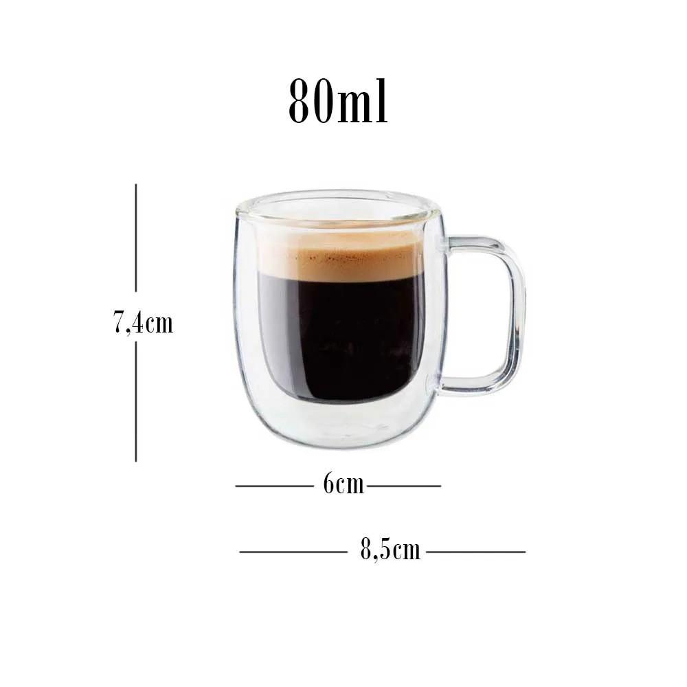 2 canecas de vidro de parede dupla para café expresso e chás 80ml - Zwilling Sorrento