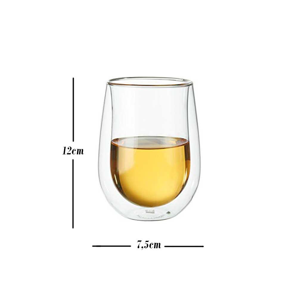 2 Copos parede Dupla Vinho Branco, drinks e sucos 296ml - Zwilling Sorrento