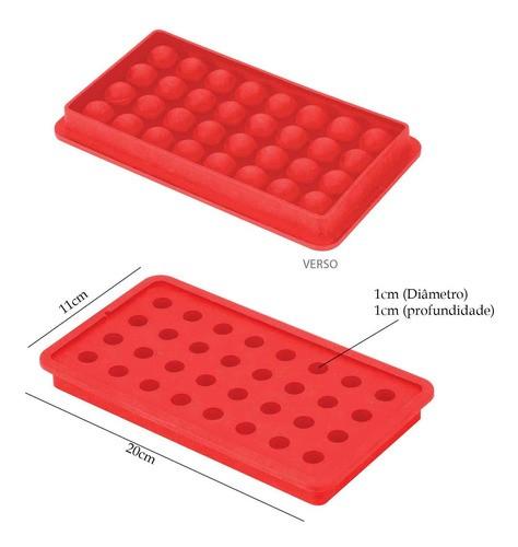 2 Formas de silicone com 32 cavidades para gelo bombom chocolate