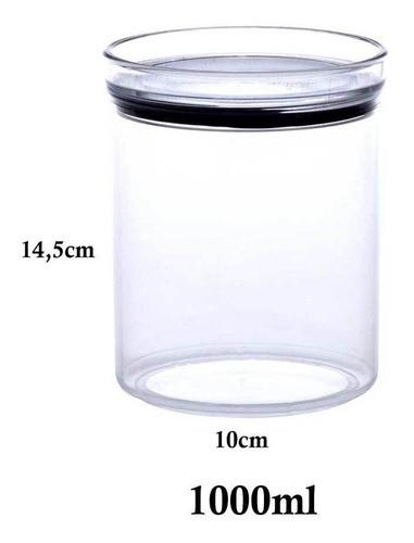 2 Potes Herméticos Redondo 1000ml e 2200ml para armazenamento de alimentos