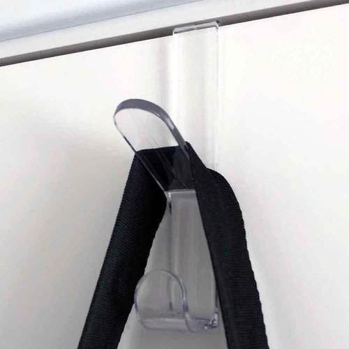 3 cabides transparentes ganchos multiuso para portas e pendurar bolsas, toalhas, roupão e roupas