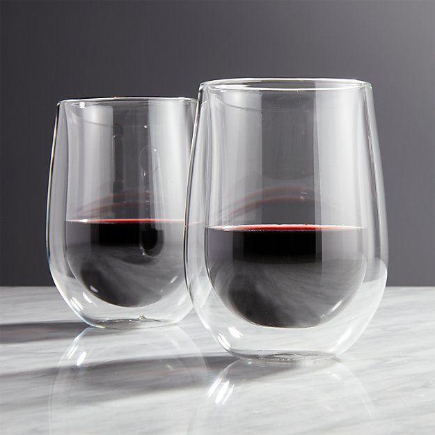 4 Copos de parede Dupla Vinho Tinto, Drinks e sucos 355ml - Zwilling