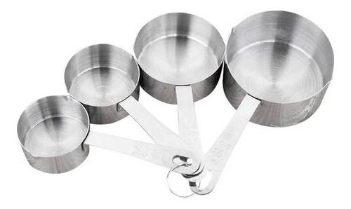 4 copos medidores xicaras colher dosadora aço inox