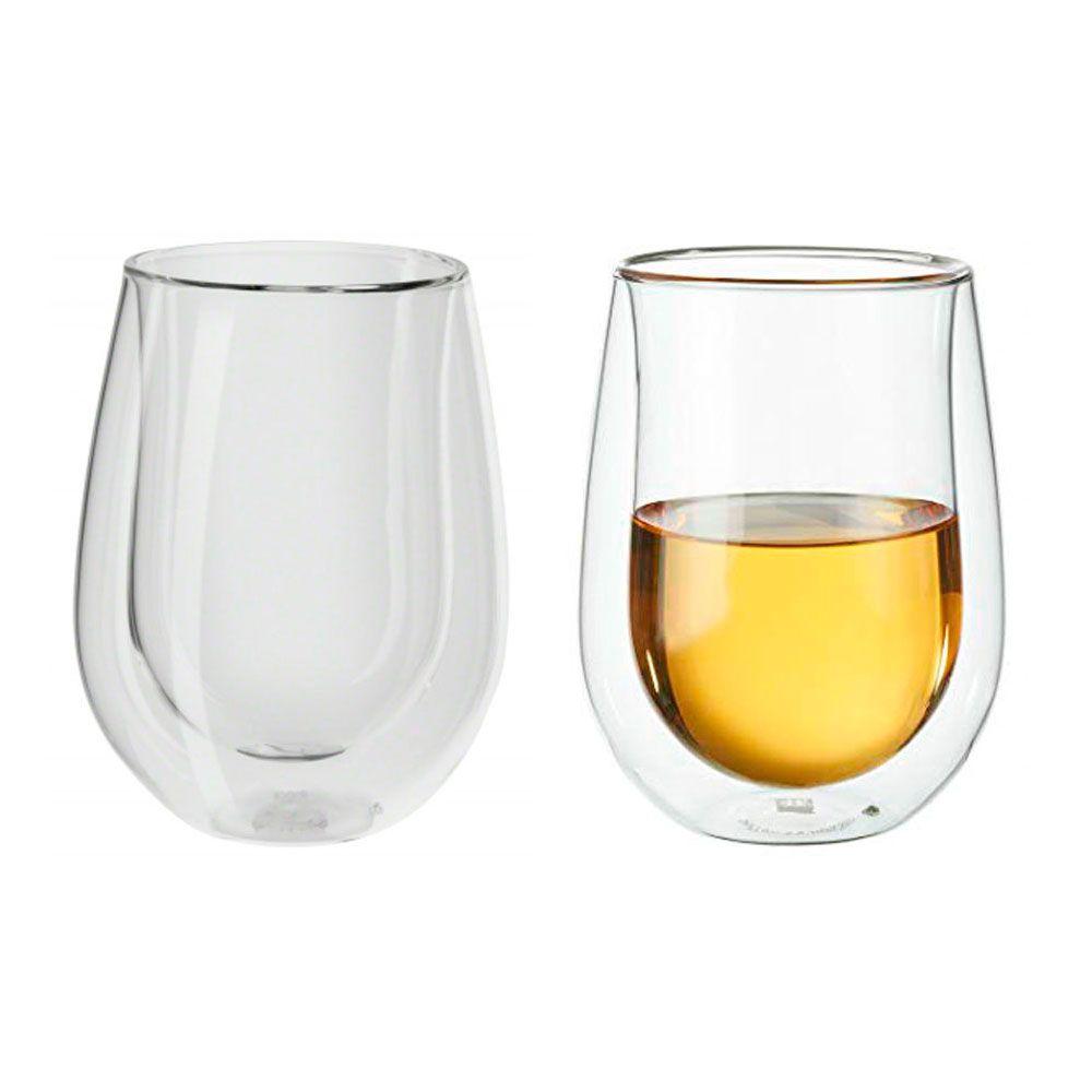 4 Copos parede Dupla Vinho Branco, drinks e sucos 296ml - Zwilling