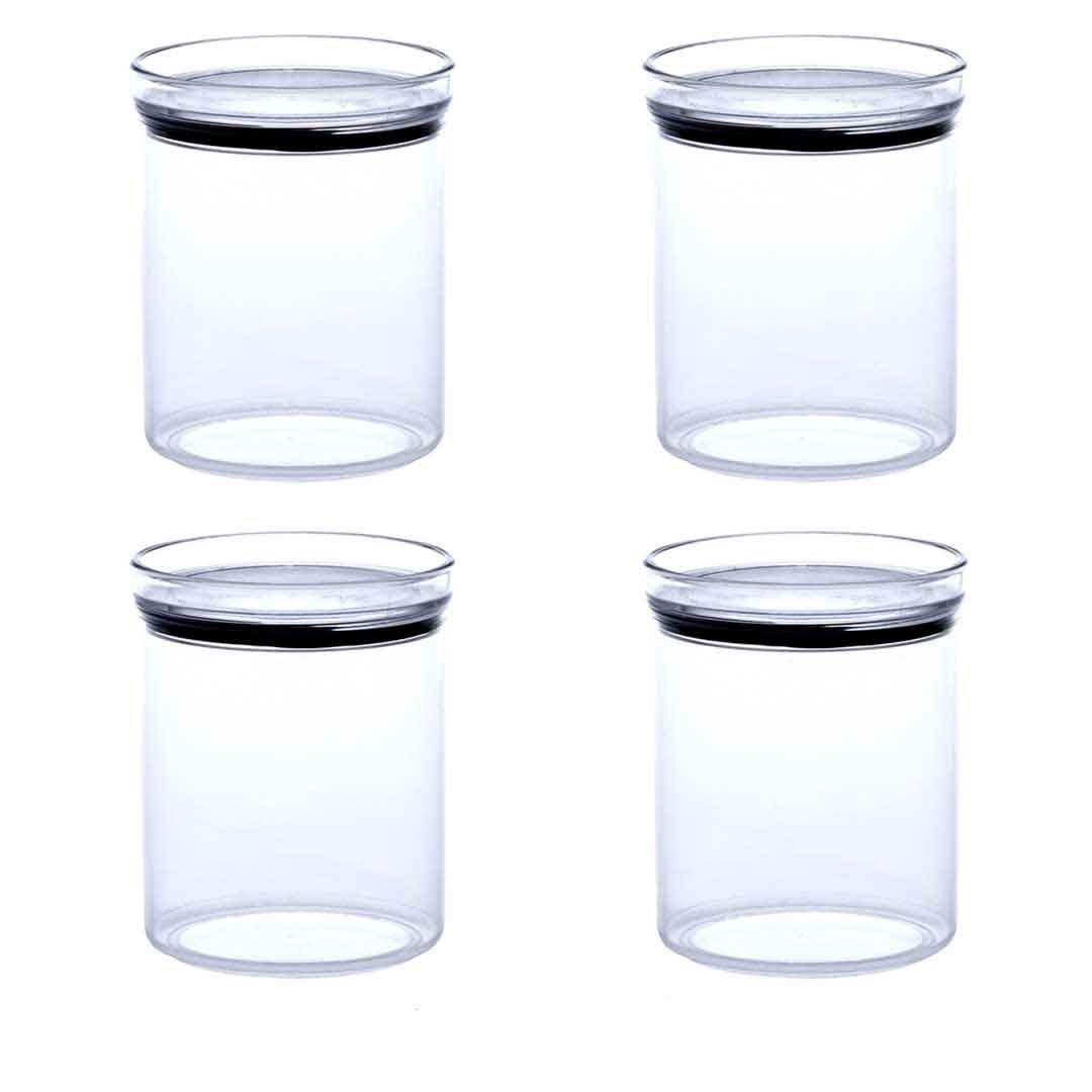 4 Potes Herméticos Redondo Empilháveis 1000ml para armazenamento de alimentos