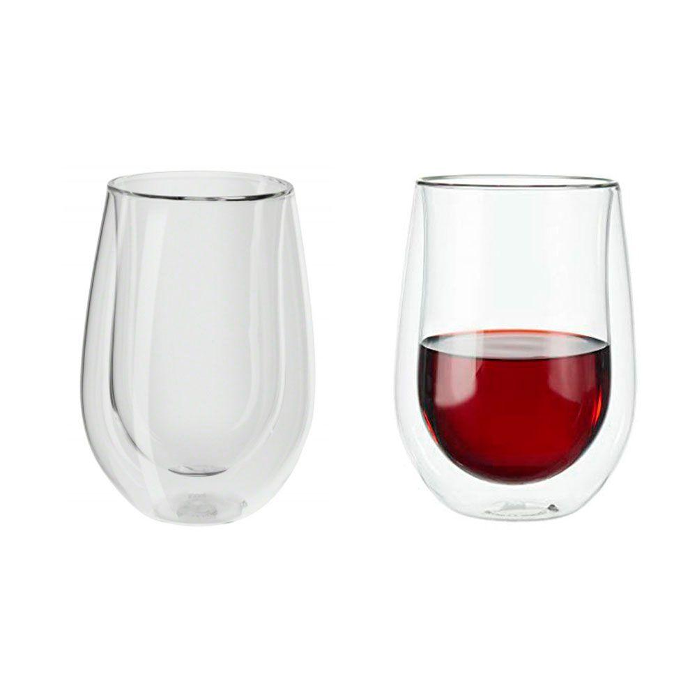6 Copos de parede Dupla Vinho Tinto, Drinks e sucos 355ml - Zwilling