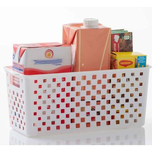 8 Cestas Organizadoras Quadratta branco para armários, armários, lavanderias, cozinha, banheiro