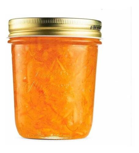 8 Potes Quattro Stagioni 320ml de vidro hermético Bormioli Rocco para papinhas, compotas, doces caseiros e conservas