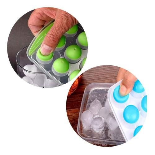 Forma De Gelo Bombom 18 Bolinhas Com Base Silicone
