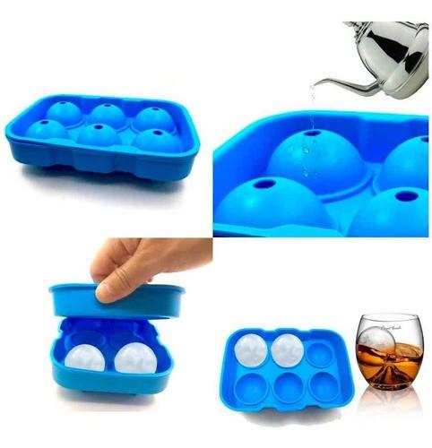 Forma silicone de gelo 6 bolas esferas grandes