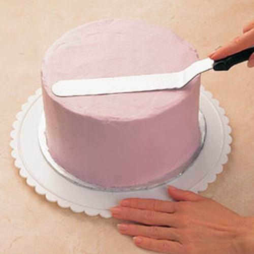 Jogo 3 Espátulas profissionais de inox para confeitaria bolos, cupcakes e cobertura