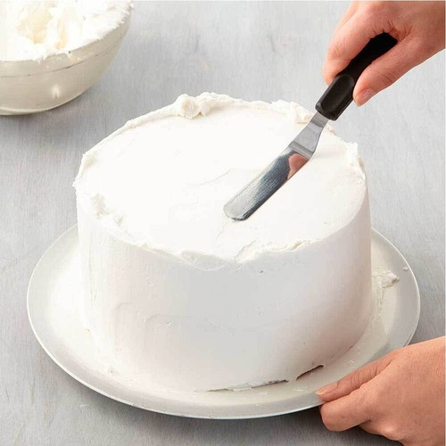 Jogo 4 Espátulas profissionais de inox para confeitaria bolos, cupcakes e cobertura