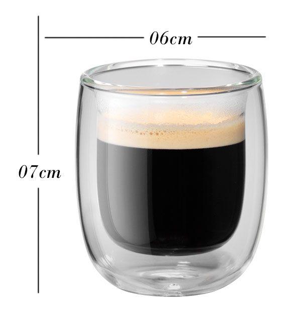 Kit com 4 copos de parede dupla 80 ml ZWILLING