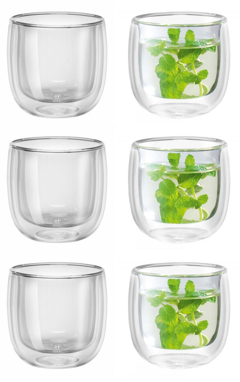 Kit com 6 copos de parede dupla 240 para chá - zwilling