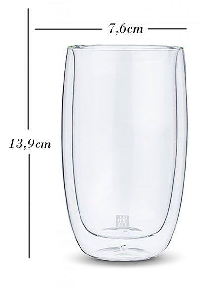 Kit com 6 copos Long Drink de parede dupla 350 ml - Zwilling