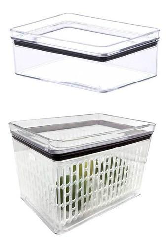 Pote Porta Frios Hermético 770ml e pote hermético para saladas, frutas e legumes 1800ml