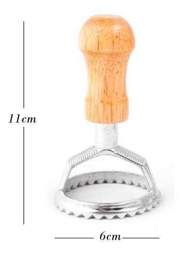 Rolo de Inox para massas e cortadores de ravioli redondo e quadrado