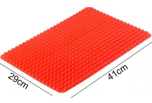 Tapete culinário silicone antiaderente pirâmide para assar e cozinhar 41 x 29cm