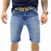 BERMUDA JEANS YOUNG STYLE COM CINTO MASCULINA