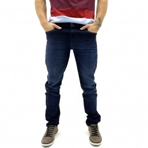 CALÇA BE EIGHT JEANS ESCURO JUST FIT MASCULINA