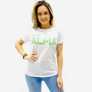 CAMISETA LEZ A LEZ  MANGA CURTA ALGODÃO ESCRITAS BRANCA FEMININA