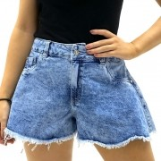 SHORTS GODE PLANET GIRLS JEANS CLARO ESTONADO FEMININO