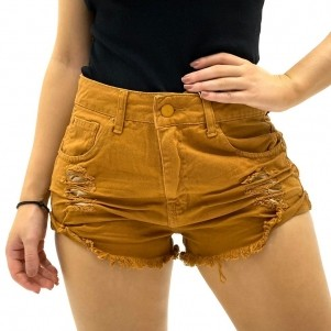SHORTS JEANS MOTOROY BYZ PREMIUM DESTROYED COLORS FEMININO