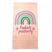TOALHA DE PRAIA KARSTEN  67 X 130 RADIATE POSITIVITY COLORS RADIATE POSITIVE UNISSEX