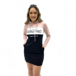 VESTIDO AEROPOSTALE MANGA LONGA COM CAPUZ FEMININO