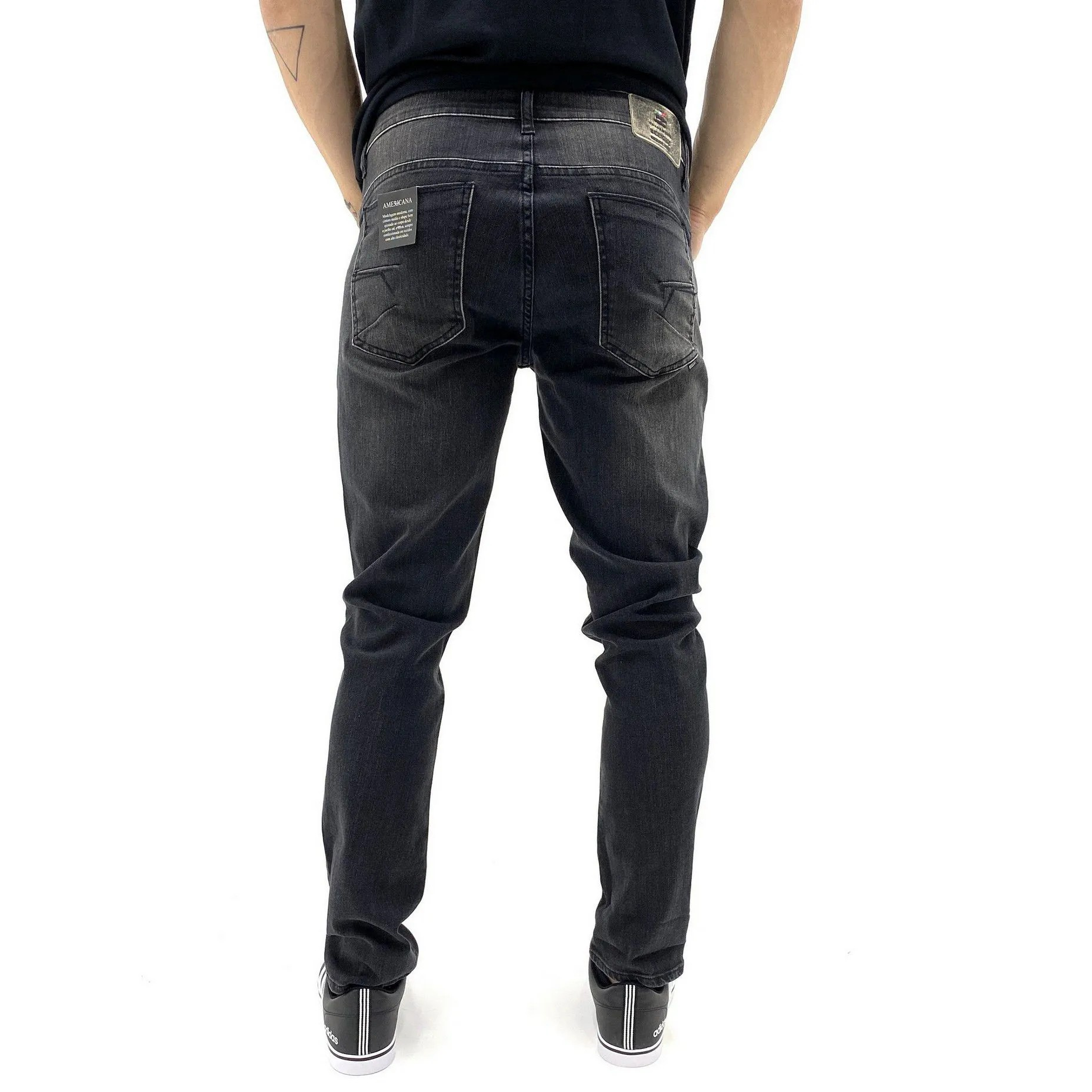 CALÇA JEANS SKINNY BE EIGHT DESTROYED   JEANS ESCURO MASCULINO